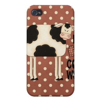 iPhone 4 del caso de Speck® Fitted™ de las vacas d iPhone 4/4S Funda