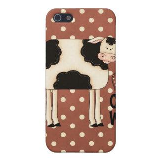 iPhone 4 del caso de Speck® Fitted™ de las vacas d iPhone 5 Protector