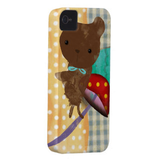 iPhone 4 del oso de peluche - caso 4s Case-Mate iPhone 4 Funda