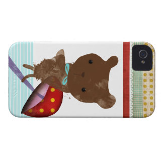 iPhone 4 del oso de peluche - caso 4s Funda Para iPhone 4