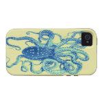 iphone 4 del pulpo del vintage iPhone 4 carcasas