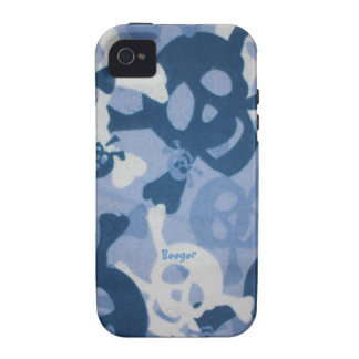 Iphone 4 duro - collage del cráneo iPhone 4 carcasa