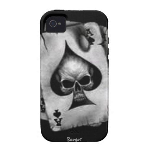 Iphone 4 duro - cráneo de espadas Case-Mate iPhone 4 carcasas