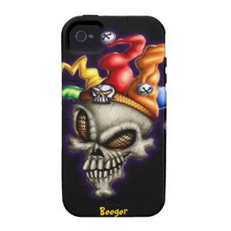 Iphone 4 duro - cráneo del bufón iPhone 4/4S funda