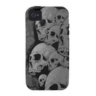 Iphone 4 duro - cráneos del zombi iPhone 4 fundas