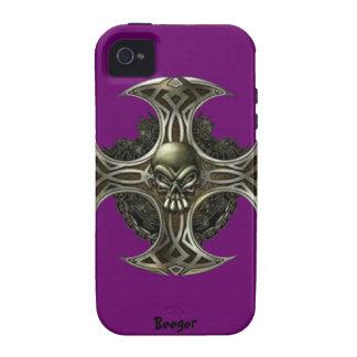 Iphone 4 duro - cuchilla del metal Case-Mate iPhone 4 fundas
