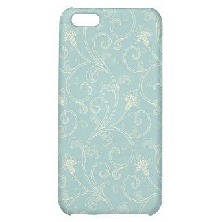 iPhone 4 florales azules elegantes del modelo del
