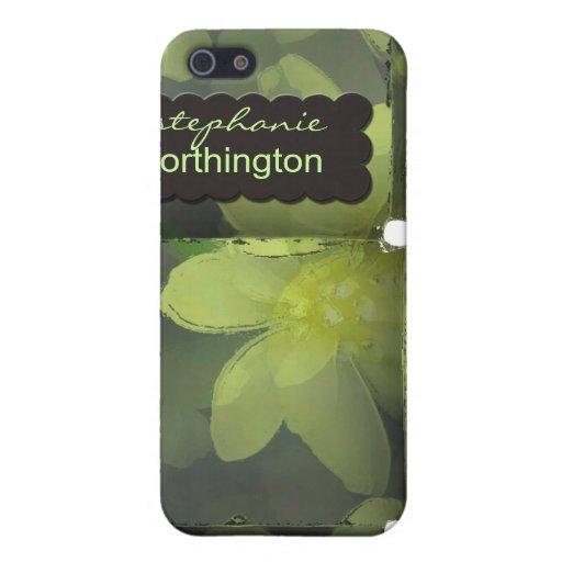 iPhone 4 florales modernos del caso personalizados iPhone 5 Carcasa