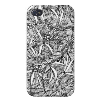 iphone 4 Flowers in black and white Cases For iPhone 4