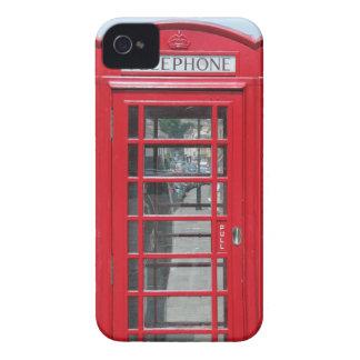iPhone 4: Foto roja clásica de la cabina de Case-Mate iPhone 4 Fundas
