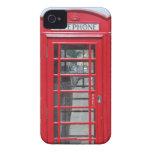 iPhone 4: Foto roja clásica de la cabina de teléfo Case-Mate iPhone 4 Coberturas