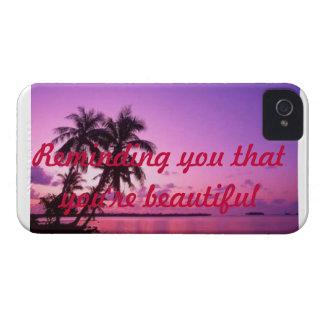Iphone 4 funda-que le recuerda que usted es hermos Case-Mate iPhone 4 fundas