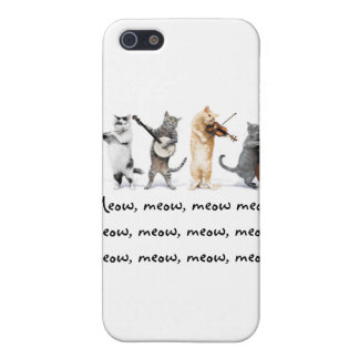 IPhone 4 G  / Singing Cats / Meow, Meow , Meow Cover For iPhone SE/5/5s