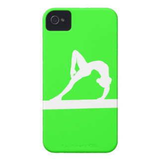 iPhone 4 Gymnast Silhouette White on Green iPhone 4 Case-Mate Case
