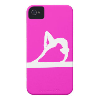 iPhone 4 Gymnast Silhouette White on Pink Case-Mate iPhone 4 Cases