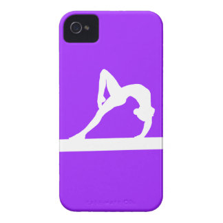 iPhone 4 Gymnast Silhouette White on Purple iPhone 4 Covers