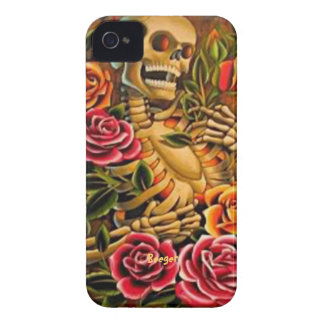 Iphone 4 ID - Mardi Gras Skeleton with Roses Case-Mate iPhone 4 Case