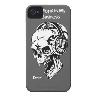 Iphone 4 ID - Metal Is My Business iPhone 4 Case