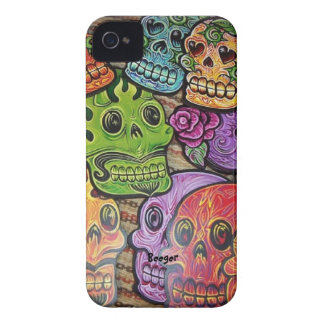 Iphone 4 ID - Mexican Sugar Skulls iPhone 4 Case-Mate Cases