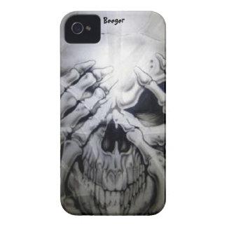 Iphone 4 ID - Peek-a-BOO Skull iPhone 4 Case-Mate Case