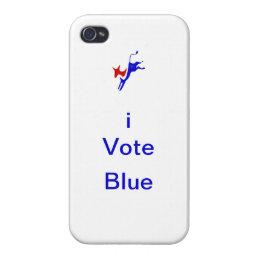 "iPhone 4 ""iVote Blue"" Case"