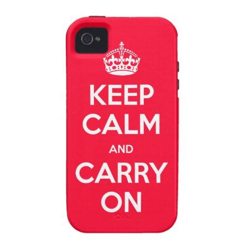 iphone 4 Keep Calm Case-Mate iPhone 4 Case