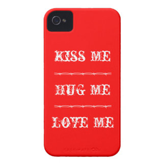 iPhone 4 Kiss Me, Hug Me, Love Me Case-Mate iPhone 4 Cases