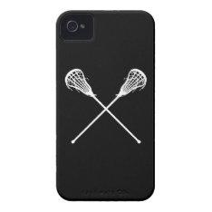 Iphone 4 Lacrosse Sticks Black Iphone 4 Case at Zazzle