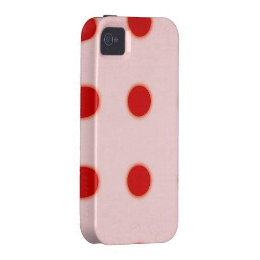 iPhone 4 lunares DUROS de Rupydetequila del caso Vibe iPhone 4 Funda