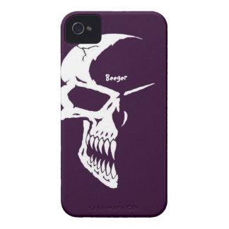 Iphone 4 mate ID - Skull Half Face iPhone 4 Case