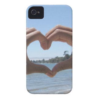 iPhone 4 o 4s: Caso del corazón de la playa iPhone 4 Cárcasa