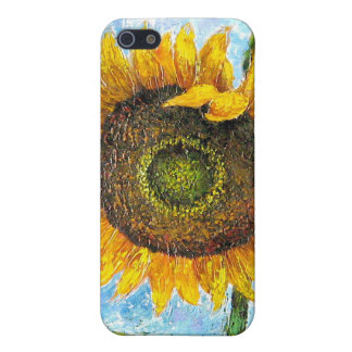 iPhone 4 or 4S Cases Sunflower Flower Painting