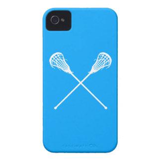 iPhone 4 palillos de LaCrosse azules Case-Mate iPhone 4 Funda
