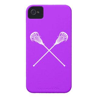 iPhone 4 palillos de LaCrosse púrpuras Case-Mate iPhone 4 Carcasas