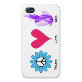 iPhone 4 Peace Love Vape iPhone 4/4S Cover