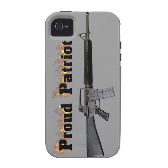 iPhone 4 Proud Patriot AR 15 Case