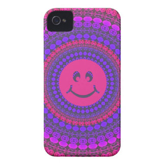 iPhone 4 Purple Smiley Phone Case