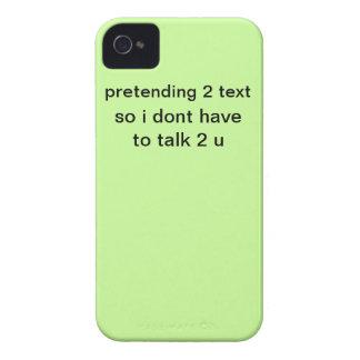 iphone 4 que finge al texto iPhone 4 Case-Mate funda