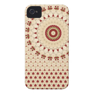 iPhone 4 Red and Beige Rosetta pattern iPhone 4 Case