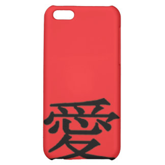 iPhone 4 Red Love Chinese Character The MUSEUM Zaz Case For iPhone 5C