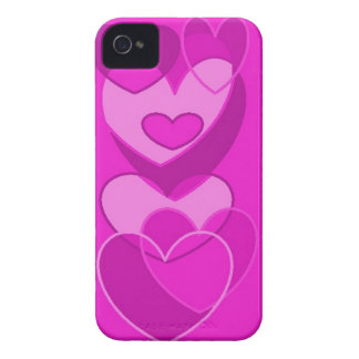 iphone 4/S Case ART by GABYforJULIE-purple hearts-
