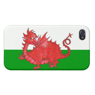iPhone 4 Savvy Case, Cute Welsh Red Dragon iPhone 4/4S Cases