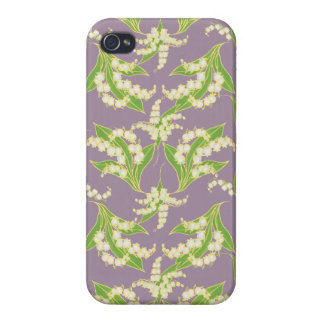 iPhone 4 Savvy case: Lilies of the Valley, Mauve iPhone 4/4S Covers