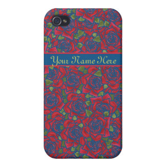 iPhone 4 Savvy Case to Personalize Hearts Roses Cover For iPhone 4
