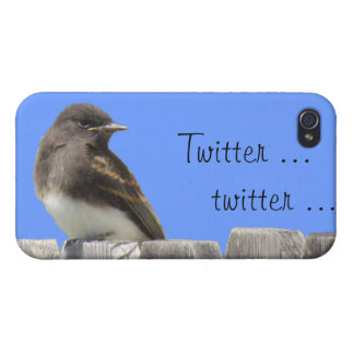 iPhone 4 Savvy - Flycatcher on fence Cases For iPhone 4