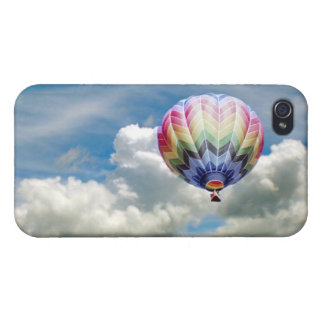 iPhone 4 Savvy - Hot Air Balloon in the clouds iPhone 4 Cases