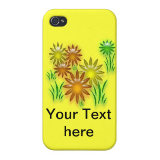 iPhone 4 Savvy - Three dimensional neon daisies Cover For iPhone 4