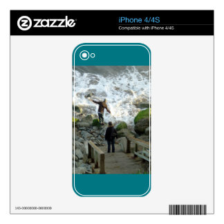 iPhone 4 Skin: Playing in the Surf iPhone 4 Skin