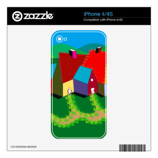 iPhone 4 Skin with Folk Art
