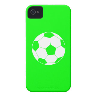 iPhone 4 Soccer Ball Silhouette Green iPhone 4 Cover